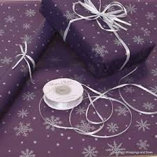 silver christmas wrapping paper christmas purple silver snowflakes patterned kraft wrapping