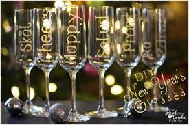 new years chagne glasses diy wine glasses for new year s