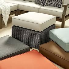 Wicker Outdoor Ottoman Barbados Wicker Outdoor Cushioned Grey Charcoal Grand Ottoman