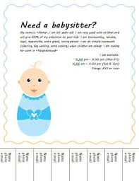 babysitting flyer templates basitting flyers and ideas 16 free