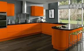 cuisine orange et noir déco cuisine orange et gris 38 fort de cuisine
