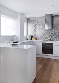 Mediterranean Tiles Kitchen - stainless steel tile kitchen contemporary with metal tile