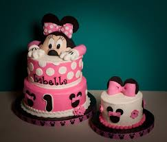 Cake Decorations For 1st Birthday 1st Birthday Minnie Mouse Cake Cakecentral Com