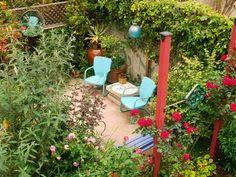 outdoor sitting areas by gardens this lush backyard becomes a