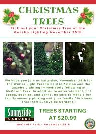 city of ammon buy your tree at the gazebo lighting on