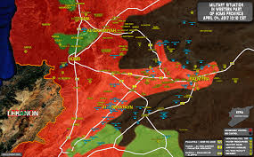 Highway Map Forces Advancing Against Isis Along Salamiyah Palmyra Highway Map