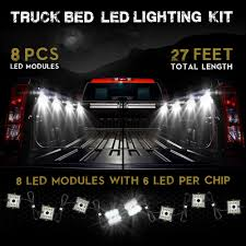 48 led white 8 module exterior truck bed lights genssi led