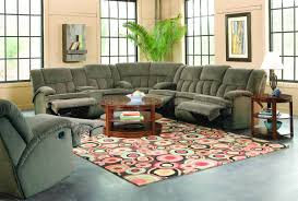 Stylish Recliner by Brown Fabric Stylish Sectional Sofa W Recliners U0026 Drop Table