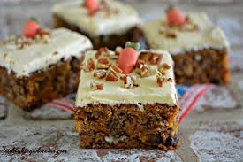 aunt biddy u0027s carrot cake tray bake irish baking adventures