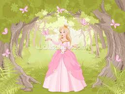 princess in enchanted woodland wallpaper wall mural wallsauce princess in enchanted woodland wall mural photo wallpaper