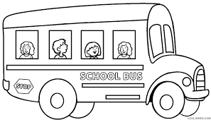 bus safety coloring page full size of to color for kids
