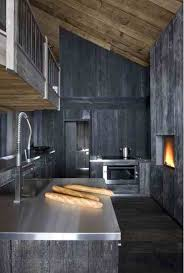 kitchen design rustic kitchen rustic and cool kitchen design with dark gray wooden wall