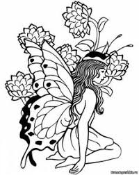fairy coloring pages adults enchanted designs fairy