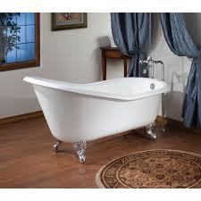 54 inch cast iron slipper clawfoot tub