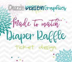Raffle Tickets For Baby Shower Custom Baby Shower Diaper Raffle Ticket By Dazzle Design Graphics