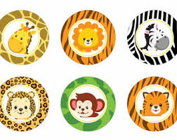 safari cake toppers safari cupcake toppers instant por peachpuffdesigns