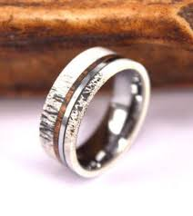 koa wedding bands antler and koa wood tungsten mens wedding band 8mm wood mens wood