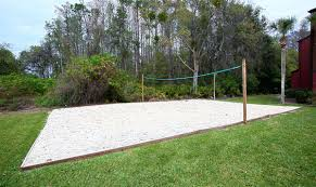 backyard landscaping volleyball courts unique landscape