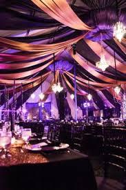 Halloween Wedding Reception Decorations Halloween by A Very Classy Halloween Wedding I Adore The Purple Lighting A