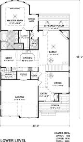 cape cod arts and crafts home with 3 bedrms 2296 sq ft plan floor plan first story