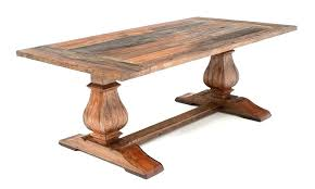 reclaimed trestle dining table rustic trestle dining room table small trestle dining table image of