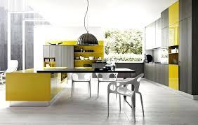 poele cuisine haut de gamme marque de cuisine haut de gamme cuisine design italien jaune gris