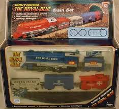 the royal blue battery operated set w track