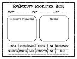 reflexive pronouns regular pronouns word sorts common core tpt