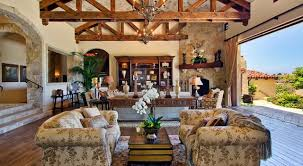 Ranch Santa Fe IndoorOutdoor Living Traditional Family Room - Outdoor family rooms