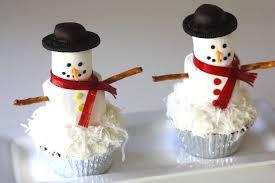 snowman marshmallows easy snowmen cupcake recipe best