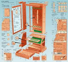 gun cabinet project plans free woodworking plans projects patterns