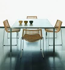 rattan dining chairs in both indoor and outdoor rooms traba homes teasing room decoration with square table also rattan dining chairs with metal legs