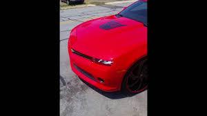 decepticon camaro 2017 chevy camaro ruby decepticon on 24 inch wheels