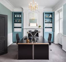 Black Home Office Desks Blue And Black Home Office With To Desks Contemporary