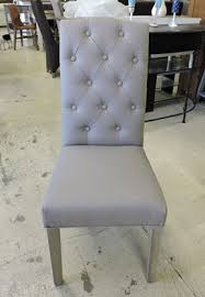 chaise capitonn e grise capitonnee grise