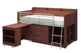 Loft Bed With Desk White by Amazon Com Rack Furniture Clairmont Loft Bed Espresso Kitchen