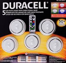 duracell 5 led wireless puck lights with remote control white wall