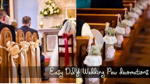 easy diy wedding pew decorations youtube