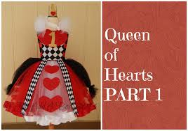 how to make a queen of hearts tutu dress by just add a bow part 1