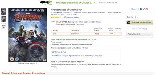 amazon dvd and blu ray black friday some u0027age of ultron u0027 dvd and blu ray boxes nixed black widow and