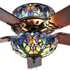tiffany style ceiling fan glass shades 5 w tiffany floral iris stained glass ceiling fan l shade