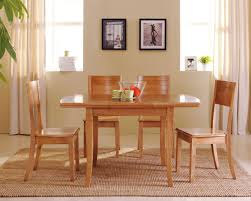 furniture cream cozy dining room feature rectangle varnished