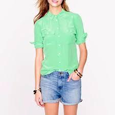 j crew blouses j crew blythe blouse in silk rank style