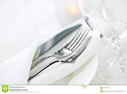 table setting for fine dining royalty free stock images image