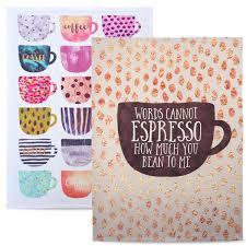 coffee cups u0027 100 cotton tea towel set by elisabeth fredriksson