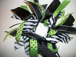 ribbon for hair that says gymnastics gymnastics sports style ribbon ponytail streamer in lime green