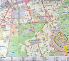 Map Poland City Map Of Warsaw Poland Itm U2013 Mapscompany
