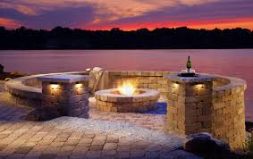 Unique Fire Pits by Warming Cool Nights Add A Belgard Fire Feature Outdoor Living