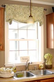 Mock Roman Shade Valance - casual relaxed roman shade in kravet dublin linen white cottage