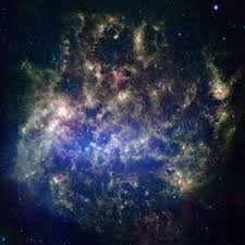 what old is new in the large magellanic cloud nasa image and